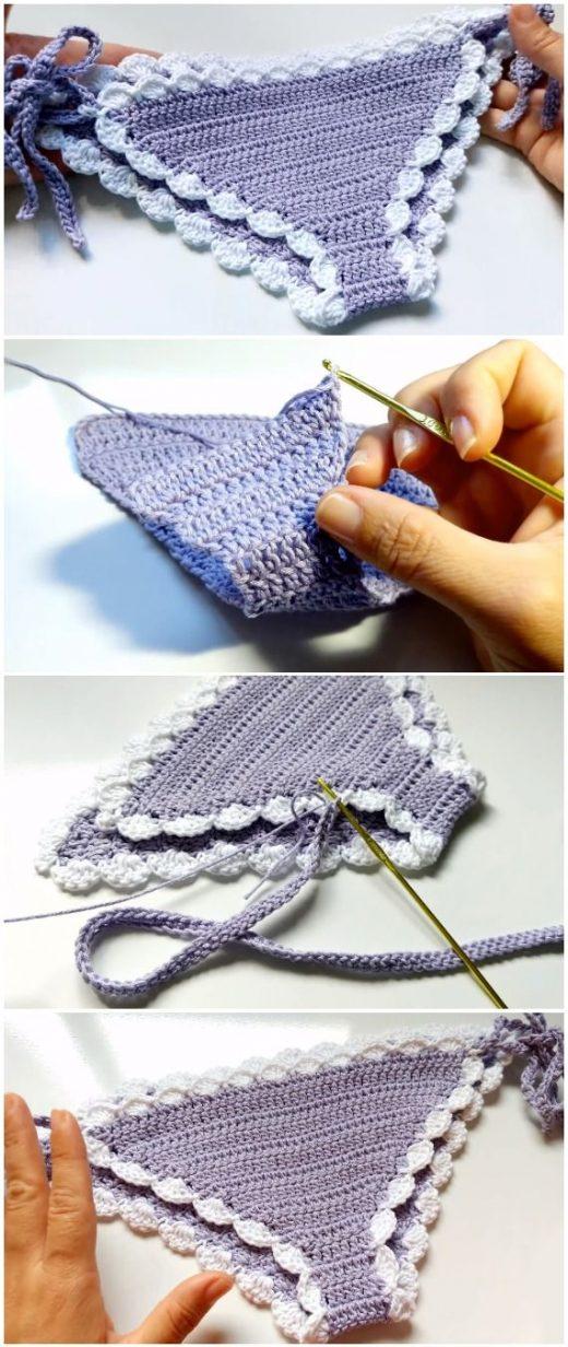 Easy To Crochet Lovely Woman's Bikini