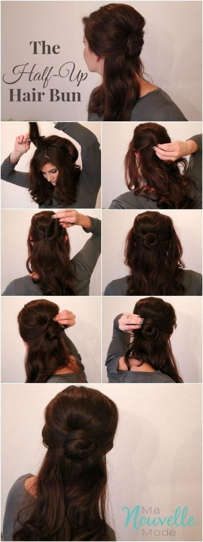 Half Up Hair Bun