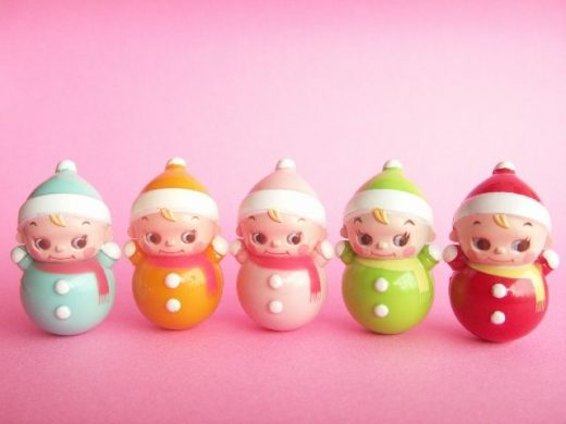 Kawaii Cute Miniature Baby Roly Poly Collection Japanese Toys