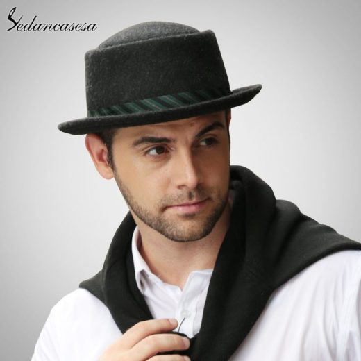 Male Fedora Hat Traditional Model For Formal Church Hat With Australian Wool felt Hats for Men FM023017