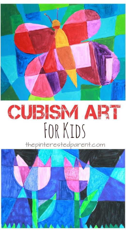 Picasso Inspired Cubism Art For Kids