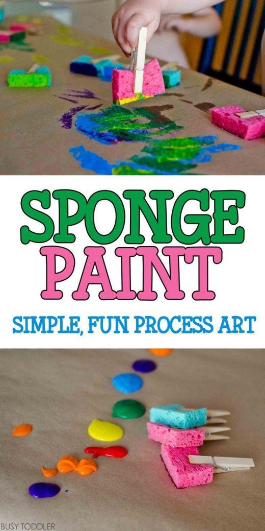 Sponge Painting Process Art