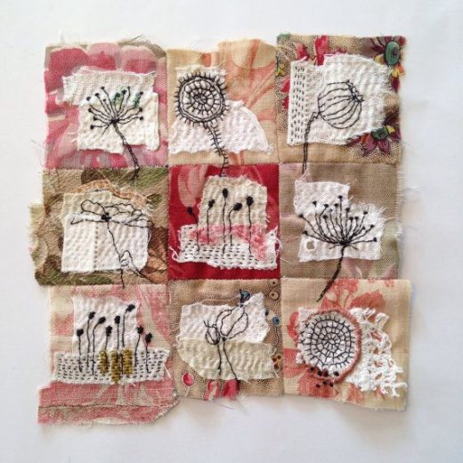 Textile Art Piece – flowers