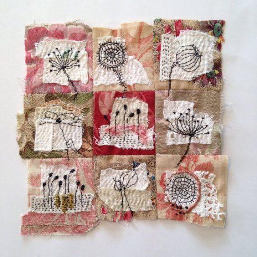Textile Art Piece – flowers