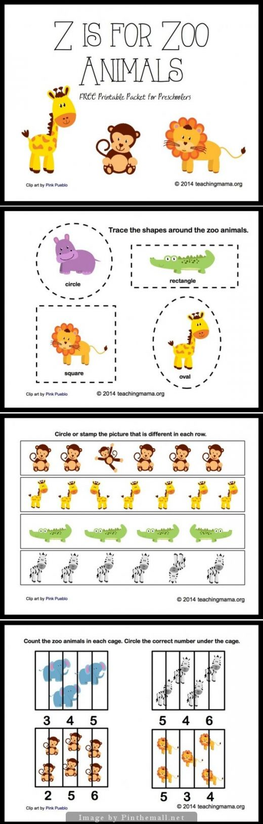 Z is for Zoo Animals — Letter Z Printables
