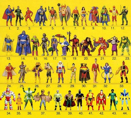 kenner super powers action figures by Paratrooper Rocky on Flickr.