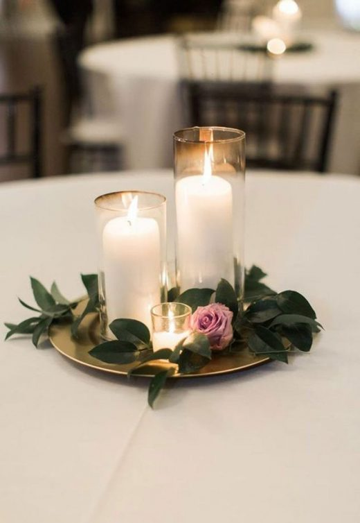 14 gorgeous spring wedding ideas you can totally DIY, like this candle centerpie…