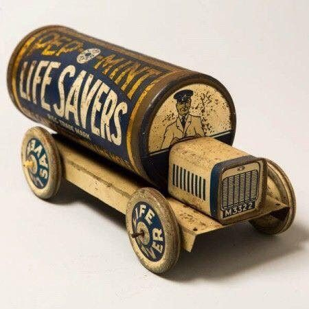 1920s Lifesavers tin toy.