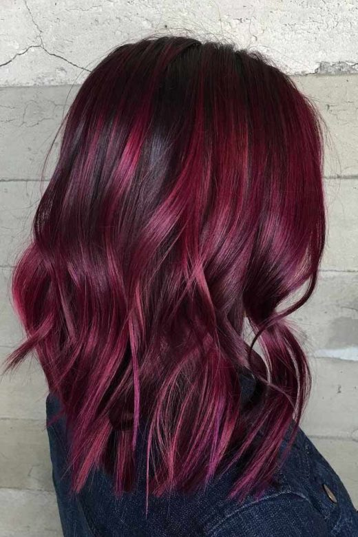 37 Flirty Burgundy Hair Ideas