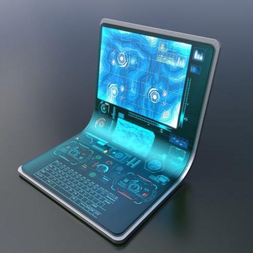 3ds max laptop hologram