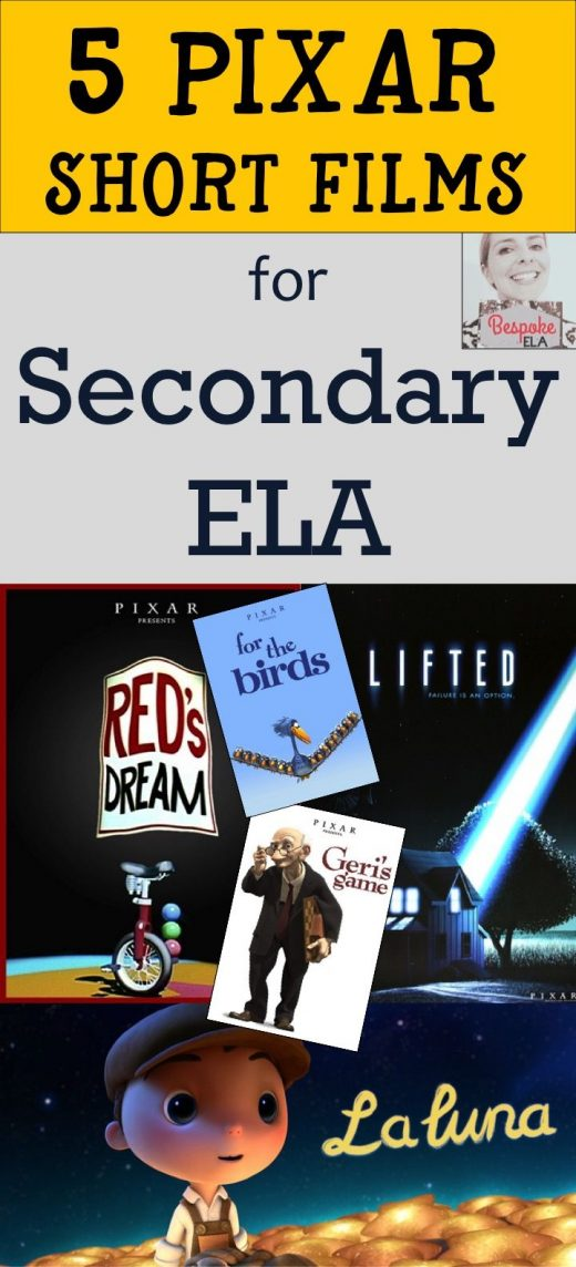 5 Pixar Short Films to Use in Secondary ELA