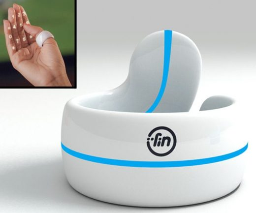 FIN – Numeric Keypad & Gesture Interface Ring | DudeIWantThat.com