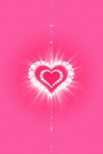 Glamour Pink Hearts iPhone HD Wallpaper iPhone HD Wallpaper download
