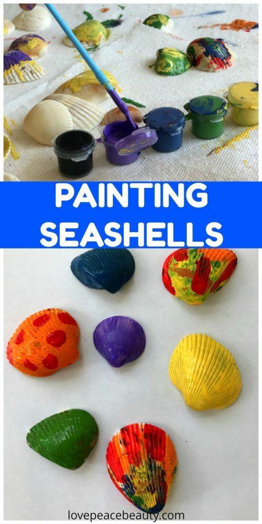 Painting Seashells Art for Kids