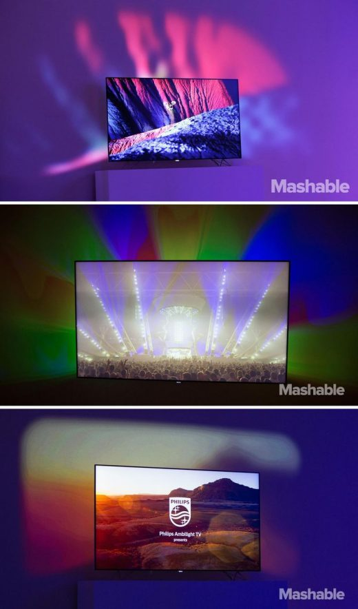 Philips' AmbiLux TV extends the picture onto your walls using pico projectors