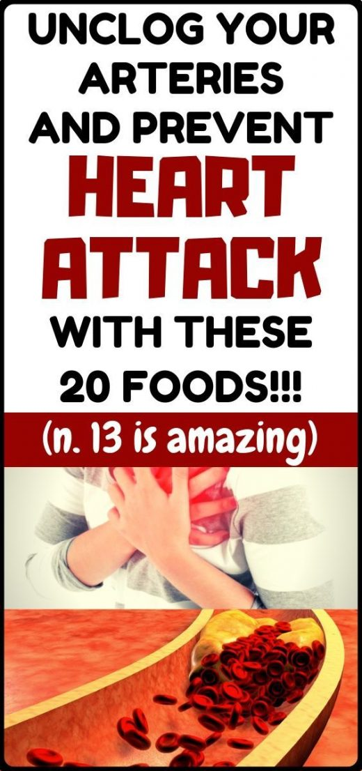 Prevent heart attack and unclog your arteries only with consuming these 20 foods…