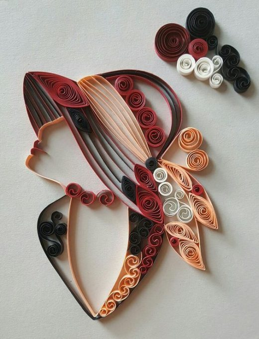 Quilling modele : Lovely Girls on Quilling