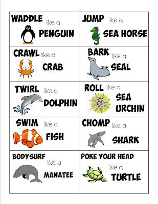Sea Life Action Cards – Guest Post from lil Mop Top | Mess For Less