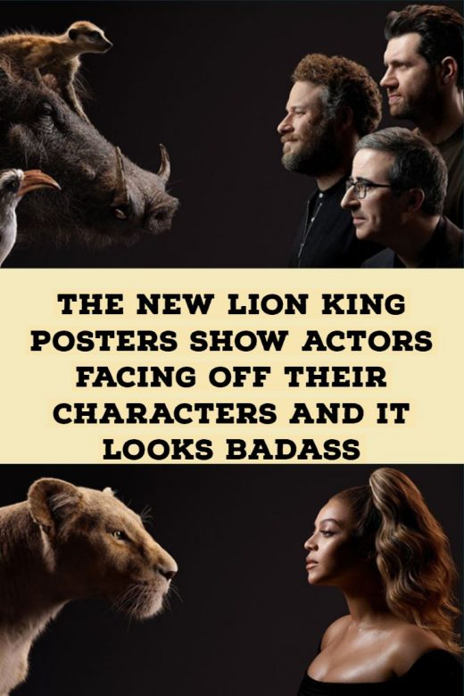 The New Lion King Posters Show Actors Facing Off Their Characters And It Looks Badass