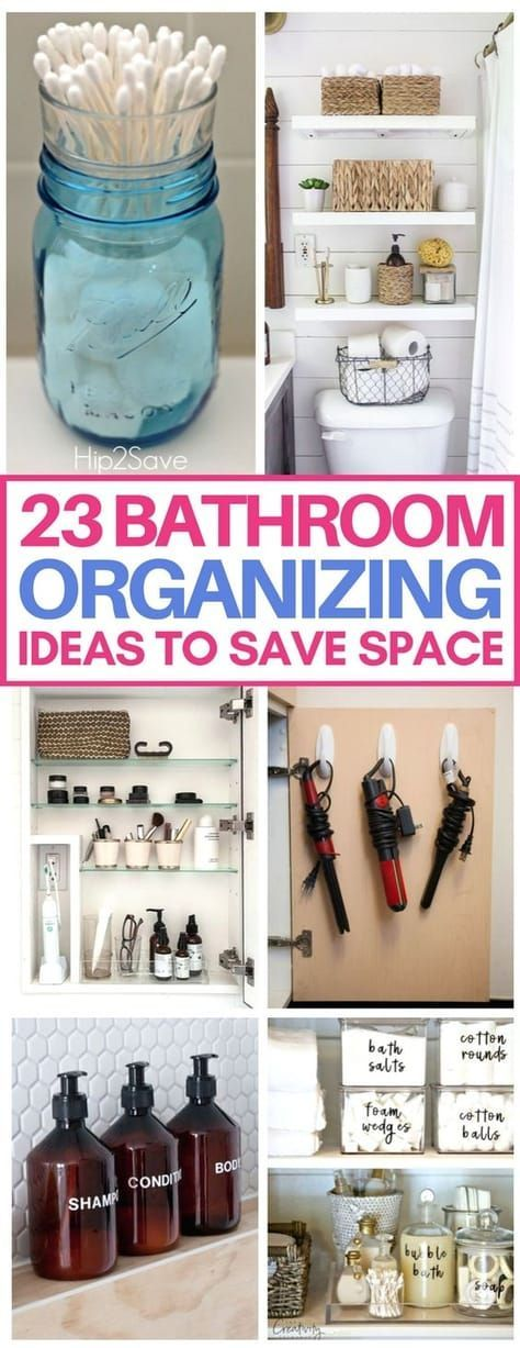 These small bathroom organization hacks are brilliant and will save so much spac…