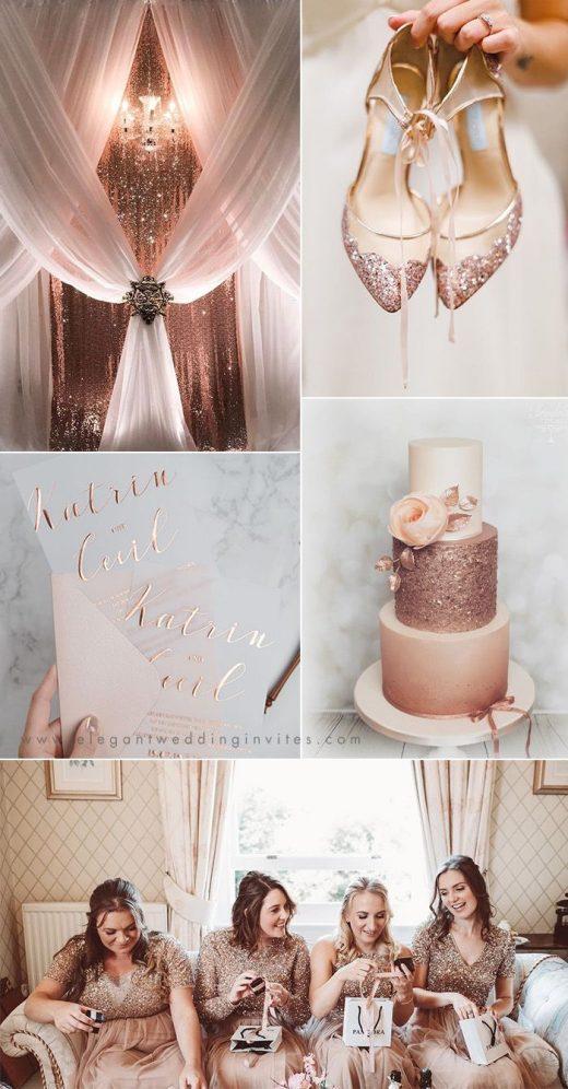2019 Wedding Trends: Chic Rose Gold Wedding Ideas
