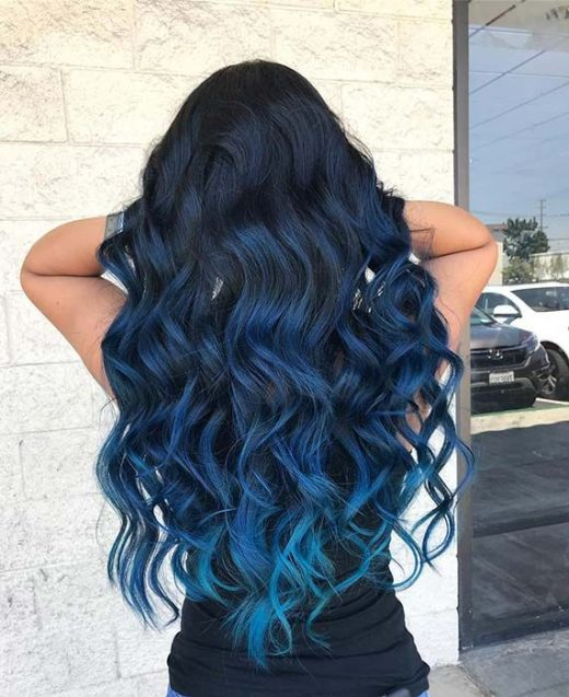 41 Bold and Beautiful Blue Ombre Hair Color Ideas