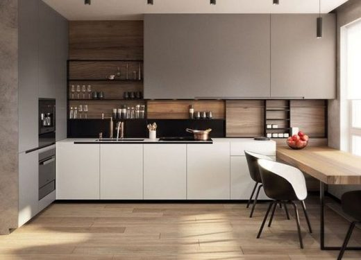 49 Luxury Open Kitchen Shelves Design Ideas For Apartement