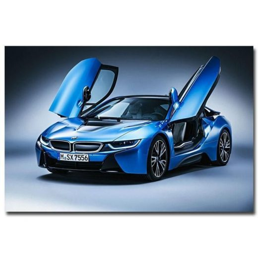 "Awesome 8×12"" 0335A BMW I8 Blue Supercar-Print Art silk Poster 2017 2018"