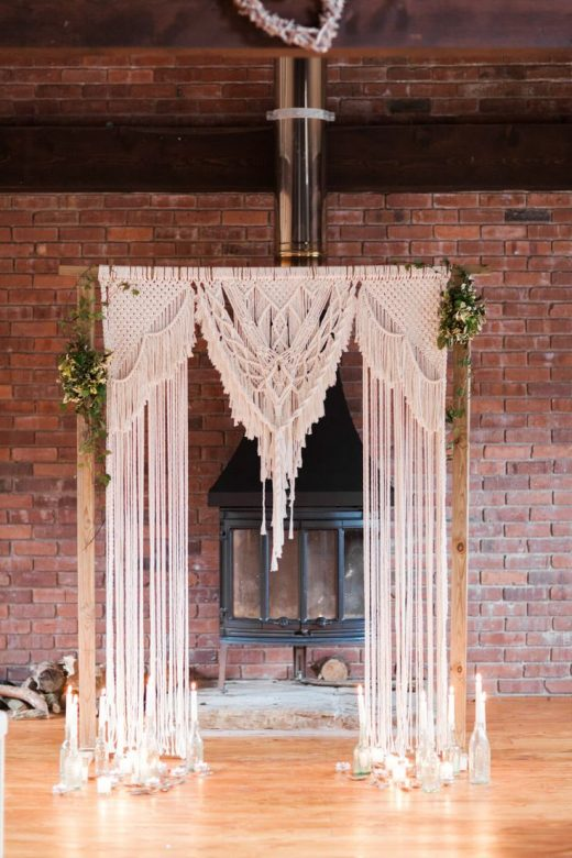 Botanical Macrame Glass House Wedding Ideas