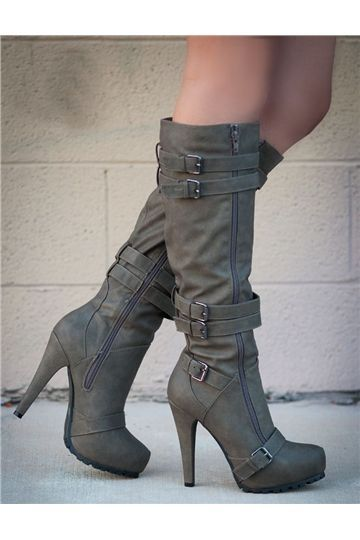Camel Coppy Stiletto Heel Knee Higher Boots