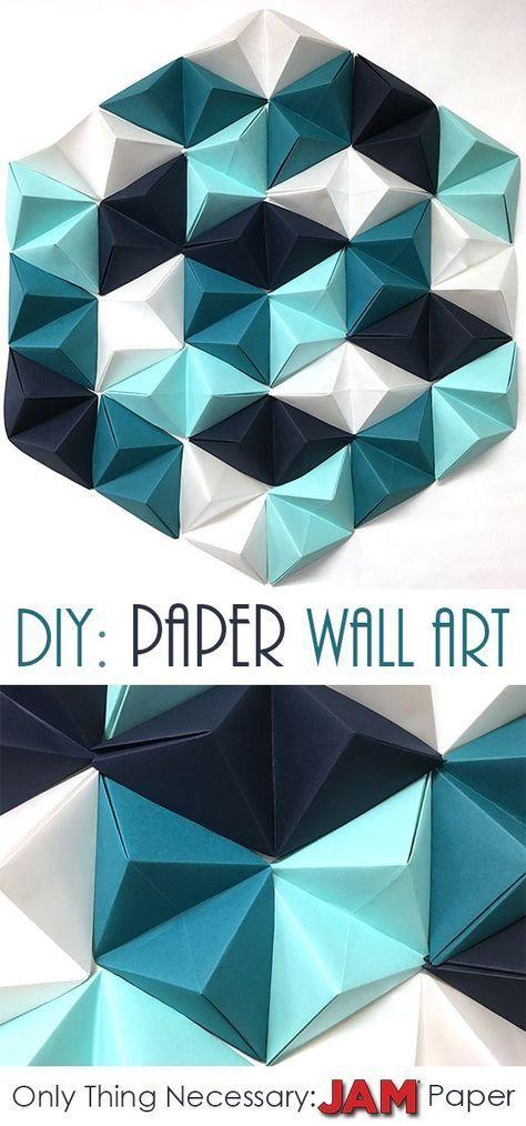 DIY: Geometric Paper Wall Art