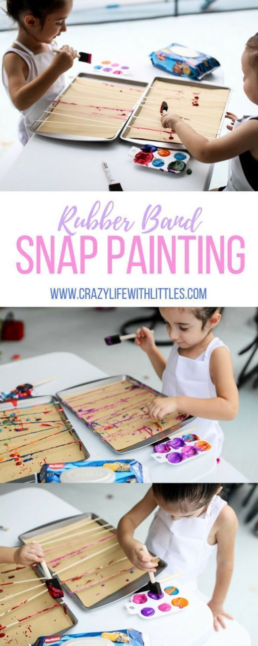 EMBRACING THE MESS WITH TODDLER SNAP PAINTING