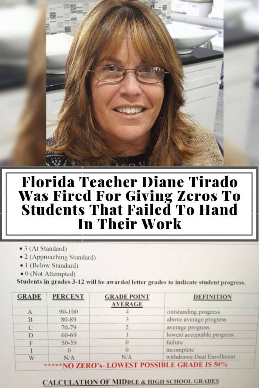 Florida Teacher Diane Tirado Was Fired For Giving Zeros To Students That Failed To Hand