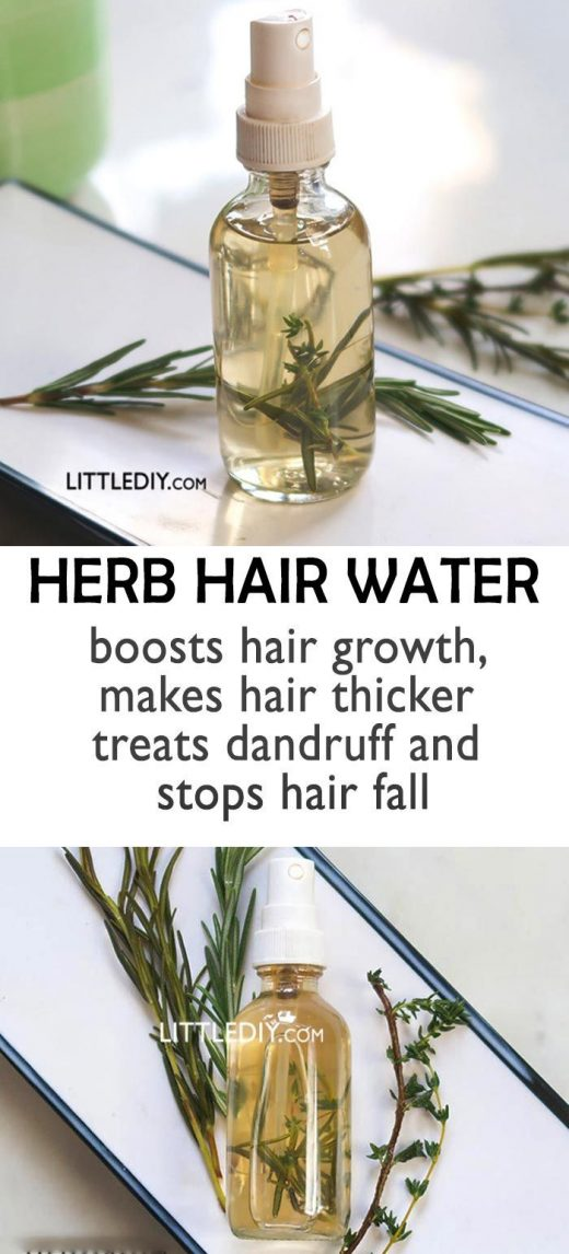 HERB WATER FOR ITCHY SCALP AND HAIR LOSS