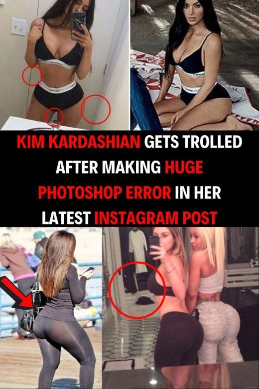 Kim Kardashian Gets Trolled After Making Huge Photoshop Error in Her Latest Instagram Post