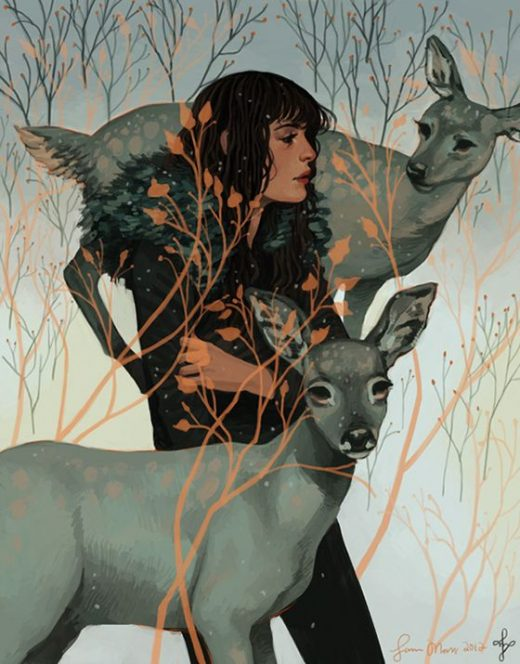 Magazine – Sam Moss' Wintry Illustrations