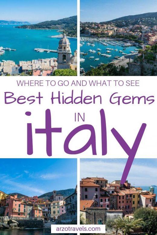 Most Beautiful Hidden Gem Travel Destinations in Italy