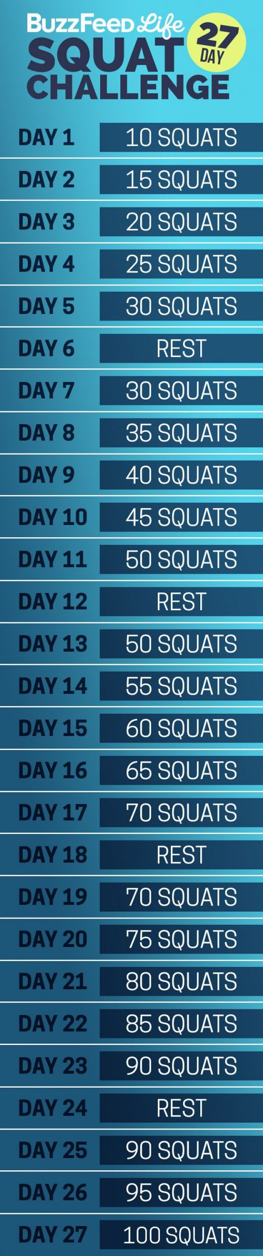 Take This 27-Day Summer Butt And Thighs Challenge