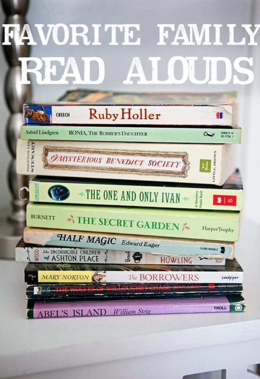 Top Family Read Aloud Books (Ages 5 to 12