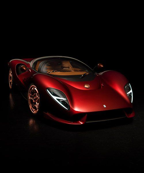 e tomaso reveals retro-futuristic P72 supercar at goodwood festival