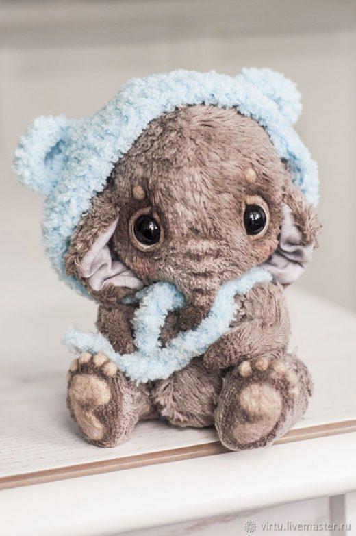 Купить Слоник в шапочке – тедди, слон, серый, …