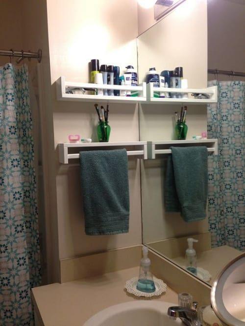 30+ Beste und intelligenteste DIY kleine Badezimmer Storage Hacks