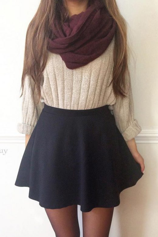33 Super Adorable Outfits For University For Women To Put on This Slide