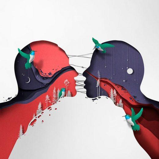 50+ Awe-Inspiring Advertising Paper Art Illustrations By Eiko Ojala