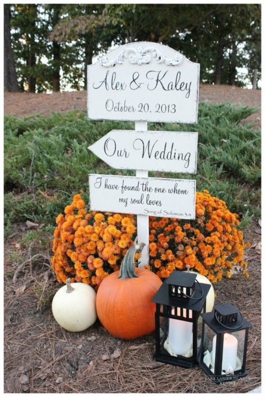 50 Fall Wedding Ideas with Pumpkins