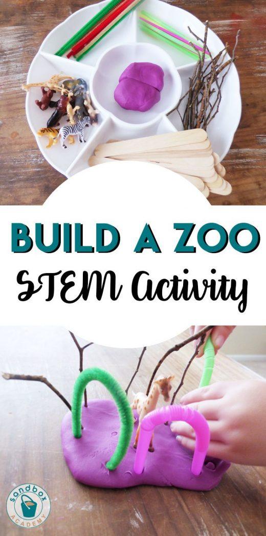 Build A Zoo STEM for Preschoolers | Sandbox Academy  Animal themed STEM activity…