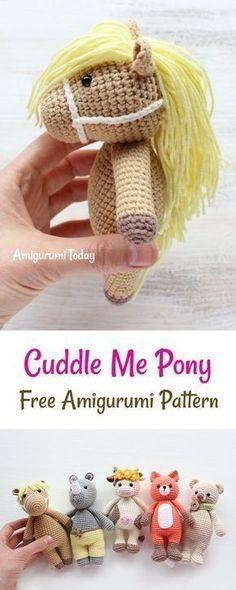 Cuddle Me Pony amigurumi pattern