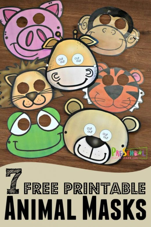 FREE Printable Animal Masks are such a fun zoo theme kids activity for toddler, …