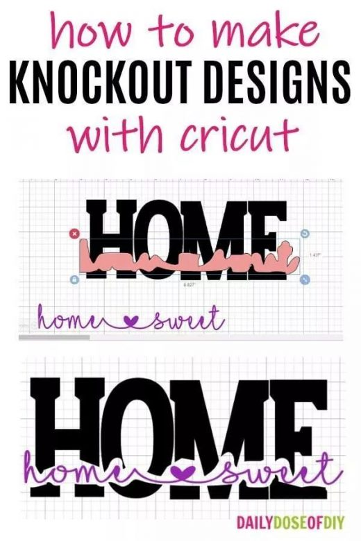 How To Make Knockout Designs in Cricut Design Space