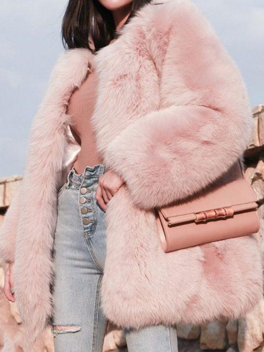 Luxury Round Neck Plain Coats
